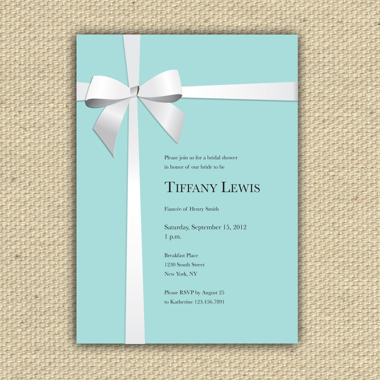 Tiffany Inspired Baby Shower Invitations for nice invitations template