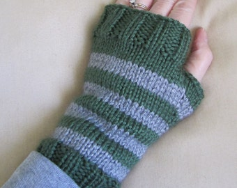 Slytherin Colors Fingerless Mittens