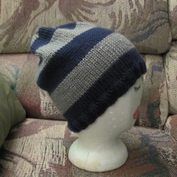 Hat in Ravenclaw colors by Whitaker Knits