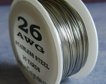 26 Gauge BARE Stainless Steel Wire, 90 Feet