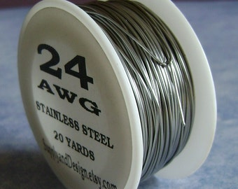 24 Guage BARE Stainless Steel Wire, 60 Feet
