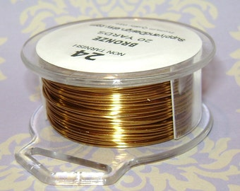 24 Gauge Bronze Non Tarnish Permenantly Colored Enameled Wire, 60 feet