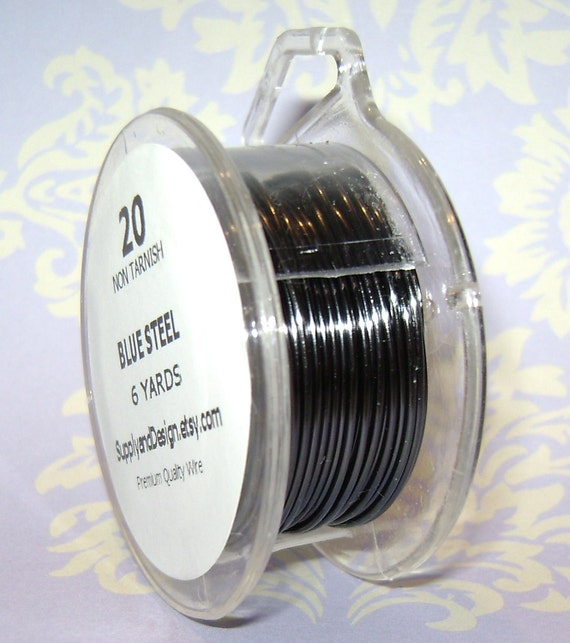 NEW - 20 Gauge Blue Steel Non Tarnish Permanently Colored Enameled Wire, 18 Feet