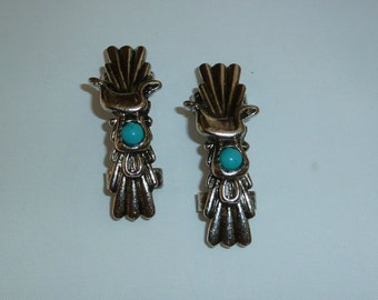 Vintage Silver and Turquoise Belt Embellishments