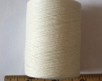 2000 yards IVORY Thread Spool Polyester Sewing 2 1/2 inch High