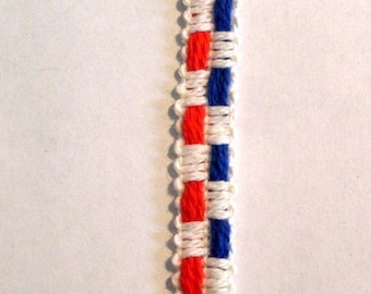 rwb007 Trim Red White and Blue 1\/2 inch Trimming Crafts (v)