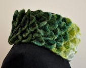 Green Multicolor Dreams Come True Warm Mohair Cowl