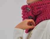 Special Order for Jenny Hand Knit Chunky Tube Cowl Neckwarmer Purple Autumn Accessories Fall Fashion Warm Wool