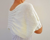 Ivory Shrug Bolero Bridal Shrug Cream Pearl Soft Elegant Chic Romantic Wedding Sweater