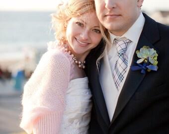 Wedding Shrug Bolero Bridal Shrug Pink Mohair Bridal Accessories Chic Elegant MADE TO ORDER