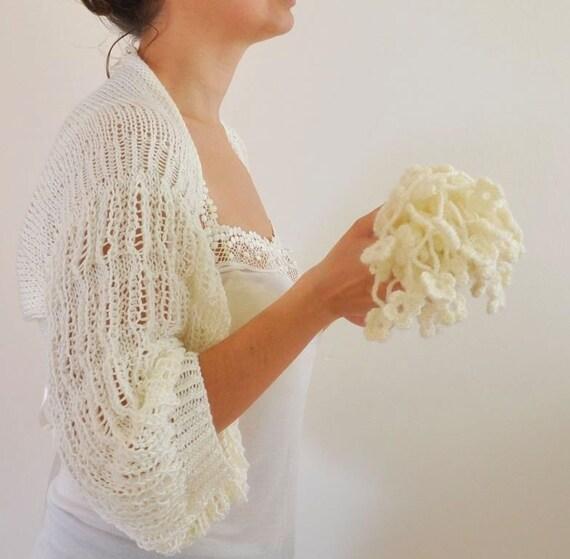 Ivory Romantic and Soft Shrug \/ Bolero - Bridal Shrug