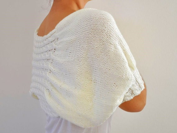 Ivory Shrug Bolero Bridal Shrug Cream Pearl Soft Elegant Chic Romantic Wedding Sweater