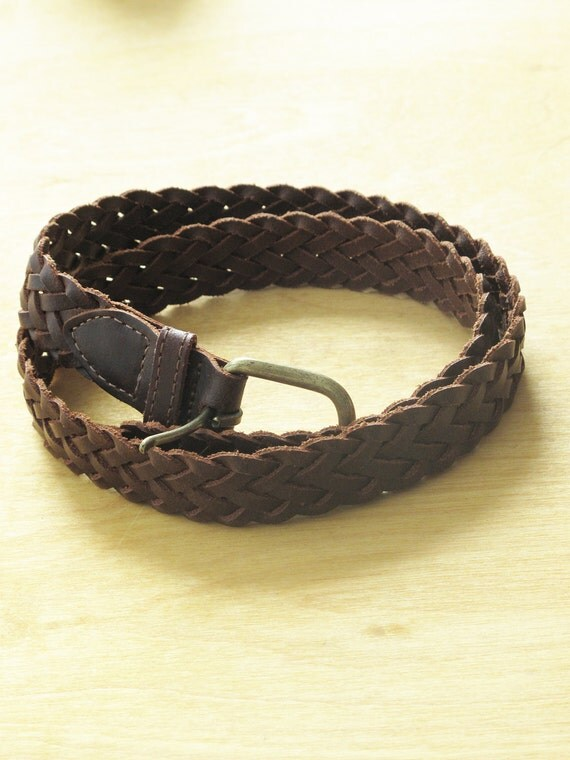 Braided Leather Belt. 30/32. Sale down from 35.