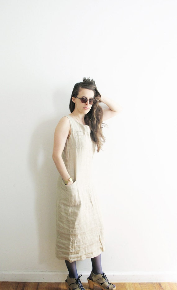 Linen Maxi Dress. S