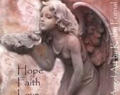 Angel Photography Note Card, Angel Fairy Girl, Inspirational Angel Art Cards, Guardian Angel Art, Hope Faith Love Angel Art Photo Note Card