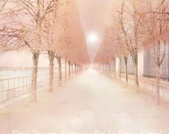 Paris Photography, Dreamy Paris Tuileries Park, Paris Pastel Tuileries Garden Art, Baby Girl Nursery Decor, Paris Dreamy Pastel Photography