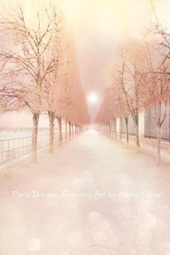 Paris Photography, Dreamy Paris Tuileries Park, Paris Pastel Tuileries Trees Art, Baby Girl Nursery Decor, Paris Dreamy Pastel Photography