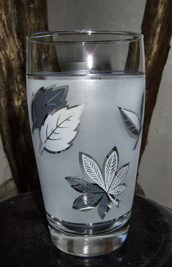 Libbey Silver Leaf Drinking Glasses/Tumblers
