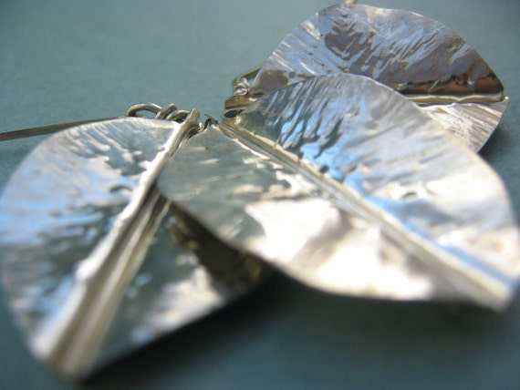 Three Leaf Choker - Sterling Silver Necklace