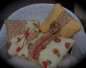 ETSY Holiday Sale - 20 percent off Trio of Pillows in Yellow