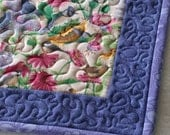 Handmade Cat Quilt / Pet Mat / Blue Pet Blanket - Medium