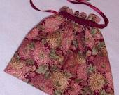 Drawstring Project or Gadget Bag - Autumn Mums