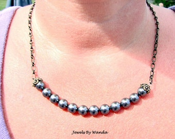 Antique Evening Shade Necklace