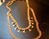 Gold Boudoir Triangle Fringe Necklace