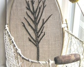 Large hand-embroidered tree