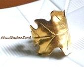 Golden Leaf Ring