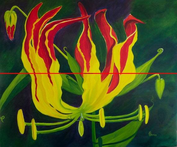 "Glorioso, Original Oil Painting by Sharon James, 30"" x 36"""