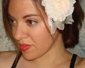 Romance Flower Hair Clip, Hair Accessories, Valentines, Bridal, Bridesmaid, Accessories, Bridal Accessories, Pink Flower, Summer
