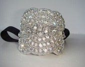 Bridal cuff, Rhinestone Cuff, Weddings, Holidays, Rhinestone bracelet - Hollywood, Bridal, Bridesmaid, Bridal  Bracelet, Quincenera
