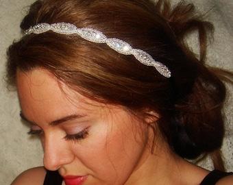 Rhinestone Headband, Wedding Headband, Crystal Headband- Athena, Wedding Headpiece, Bridal Headpiece, Hair Accessory,  Weddings