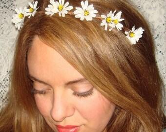 Flower Headband, Flower Crown, Headband- WILDFLOWER, Halo Headband, Accessories, Crown Headband, Daisy Flower, Flower Girl, Spring