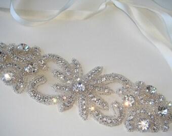 Rhinestone Headband- MADEMOISELLE, Crystal Headband, Headband, Wedding Accessories,  Accessory, Bride, Wedding Headband, bridal, accessories