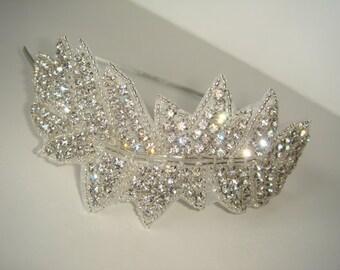 Ivy Bridal Headpiece, Rhinestone Headband,  Wedding Headband, Bridal Headband, Bridal Headpiece, Headband, Bridal Accessories, Hair, Silver