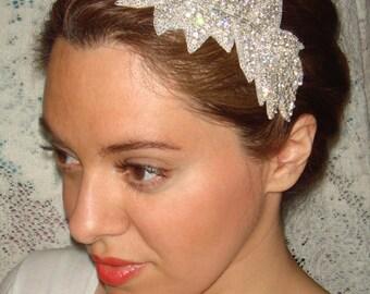 Ivy Bridal Headband, Rhinestone Headband, Wedding Headband,  Bridal Headpiece, Headband, Bridal Accessories, Hair, Silver