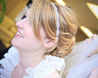 Weddings, Bridal Accessories, rhinestone headband, bridal headband, crystal headband, accessories, bridal headpiece, bridal accessories