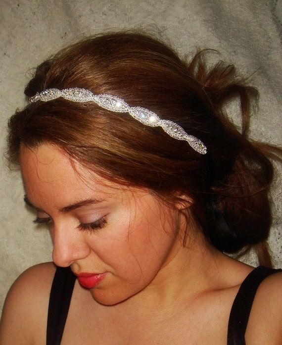 Rhinestone Headband, Wedding Headband, Crystal Headband- Athena, Wedding Headpiece, Bridal Headpiece, Hair Accessory,  Weddings
