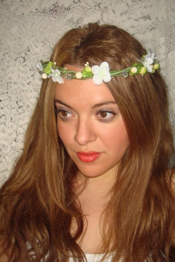 Halo Headband, Headband- Laurel, Floral Headband, Spring, Crown Headband, Accessories, Bridal, Wedding, Festival