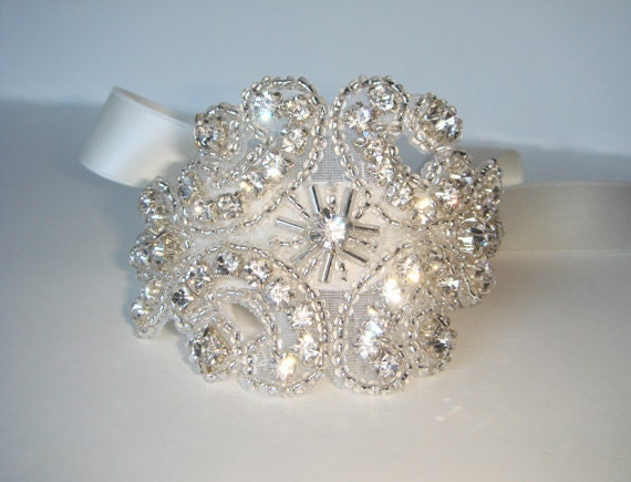 Isabella Bridal Cuff Bracelet, Rhinestone Cuff, Cuff, Wedding Cuff,  Wedding Bracelet, Bridal Accessories, Bridal Cuff, Wedding Jewelry