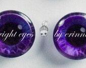 Pair of Blythe Custom Iris Patterned Eyechips - 2I