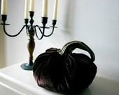 Handmade Midnight Velvatine Pumpkin Decoration