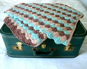 Incredible Vintage Crochet Throw Blanket Or Baby Blanket