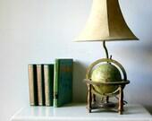 Vintage Library Globe Lamp