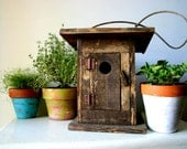 Vintage Rustic Wooden Bird House