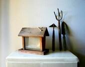 Old Wooden Handmade Bird Feeder