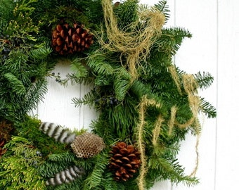 Hand Made Wild Crafted Winter Wreath