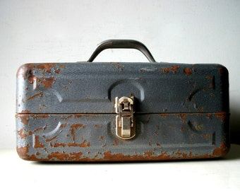 Vintage Industrial Metal Box